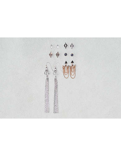 AEO Ear Jackets & Dangles Mixed Metals 6-Pack Earrings -