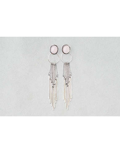 AEO Stone & Hoop Dangle Earrings -