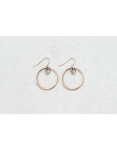 AEO Geo Shape Gold Hoops  - Buy 3 for $30 USD