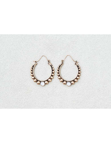 AEO Gold Ball Detail Hoops  -