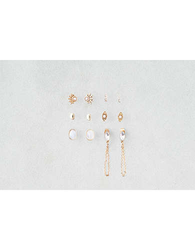 AEO Draped Chain Studs Earring 6-Pack -