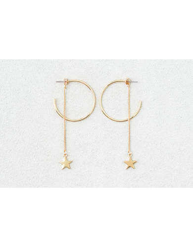 AEO Dangle Stars Gold Hoops 6-Pack -