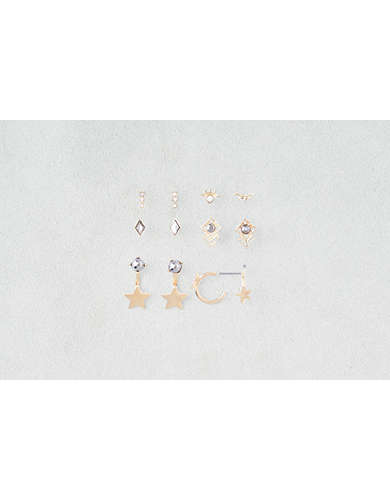 AEO Star Hoops & Ear Jackets 6-Pack -