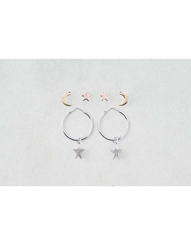 AEO Moon & Stars Hoops 3-Pack -