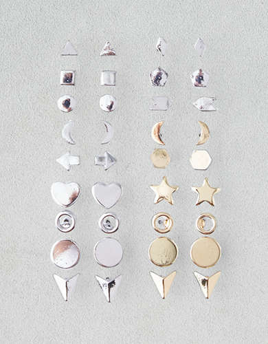 AEO Mixed Shapes 18-Pack Earrings -