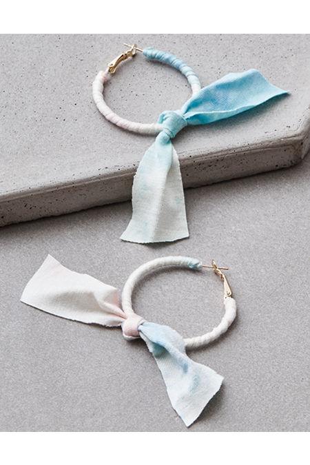 AE Tie Dye Bow Hoop Earring