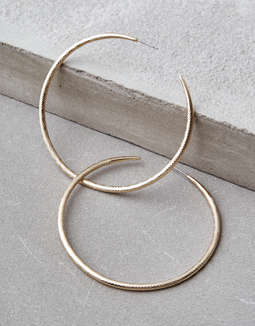 Aeo Large Gold Hoop Earrings by American Eagle Outfitters