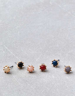 Aeo Multi Color Stud Earrings 6 Pack by American Eagle Outfitters