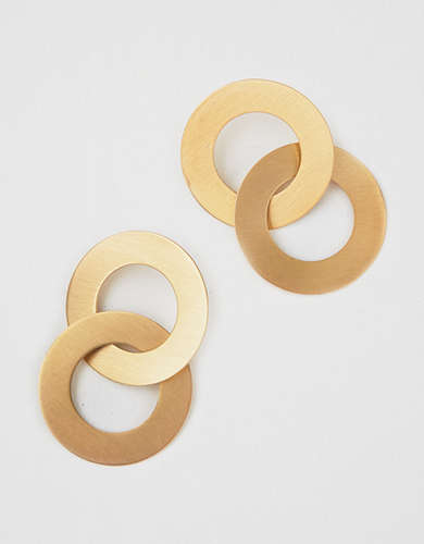 AE Double Frontal Metal Hoop Earring -