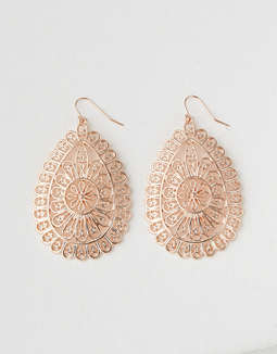 AE Rose Gold Teardrop Earring
