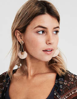 AE Blush Tassel Statement Earring