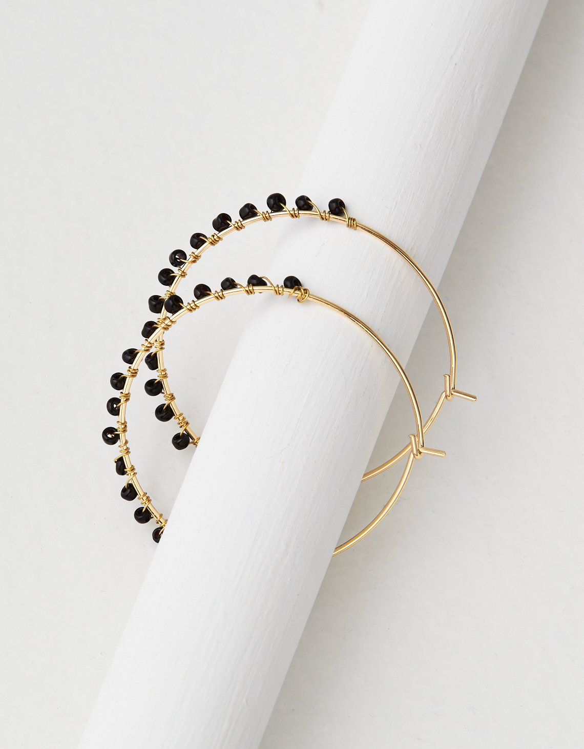 Ae Black Gold Seed Bead Hoop Earring Placeholder Image Product