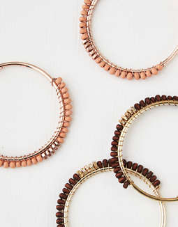 AEO Beaded Hoops 2-Pack