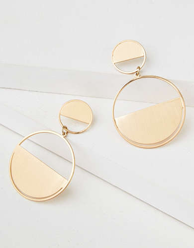 AEO Gold Frontal Hoop Earring