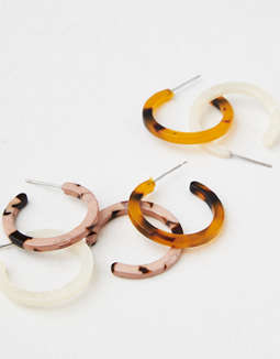 AEO Resin Mini Hoops 3-Pack