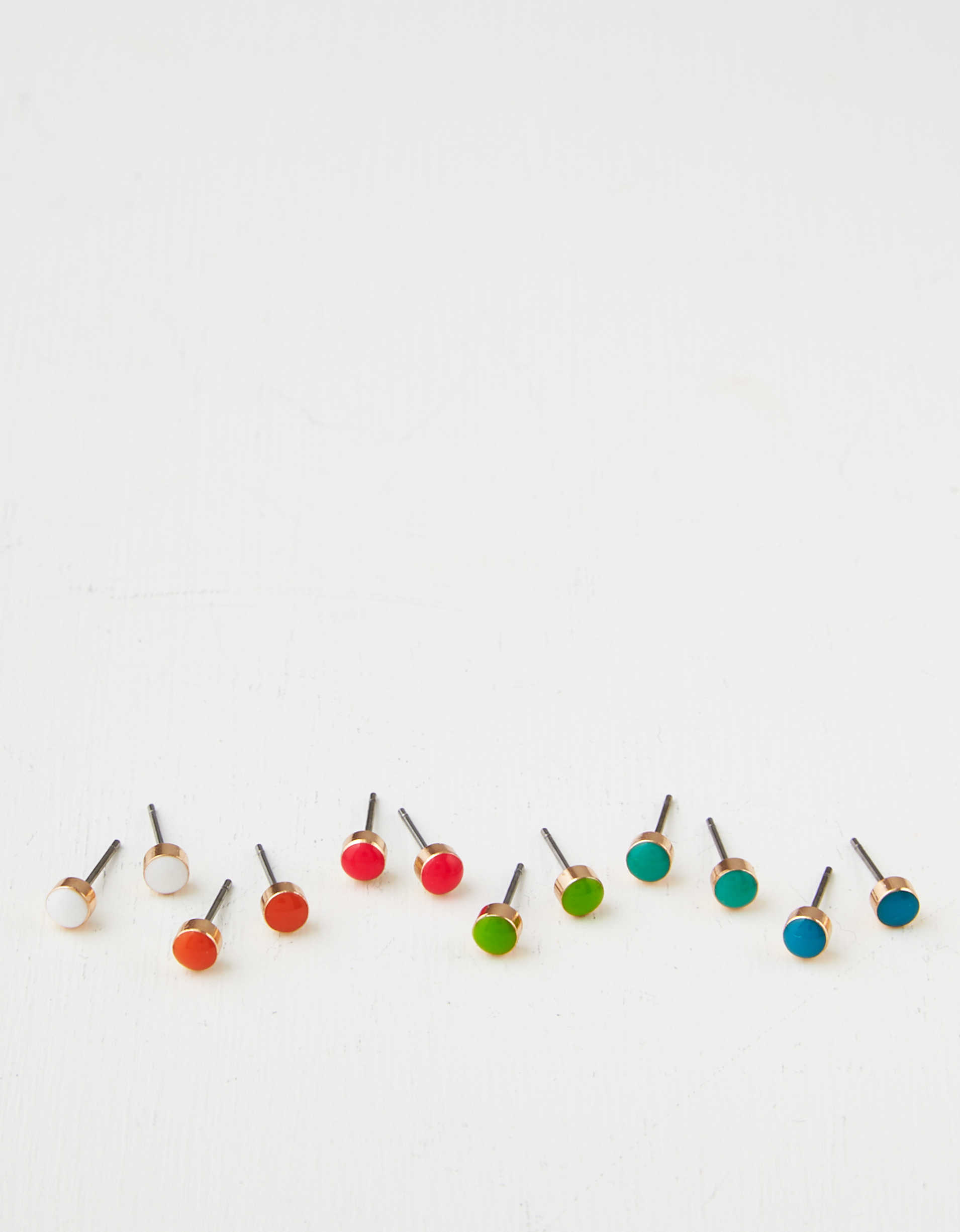 AEO Neon Stud Earrings 6-Pack
