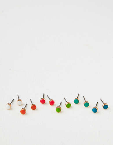 AEO Neon Stud Earrings 6-Pack -