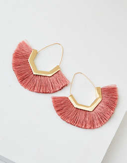 AEO Pink Tassel Earrings