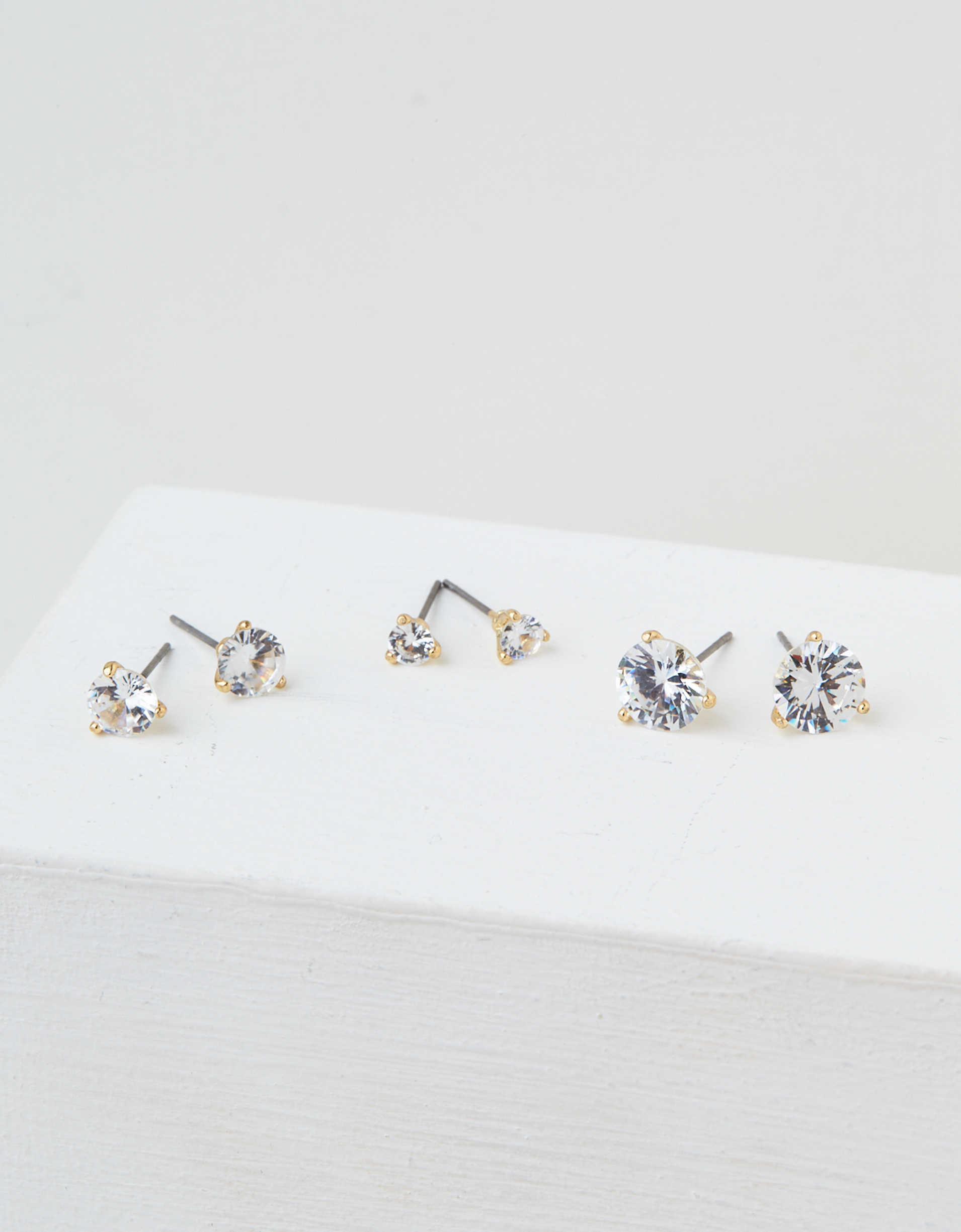 AEO Martini Stud Earrings 3-Pack