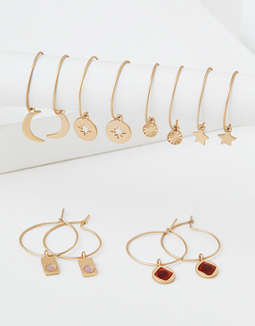 AEO Mini Charm Hoop Earrings 6-Pack