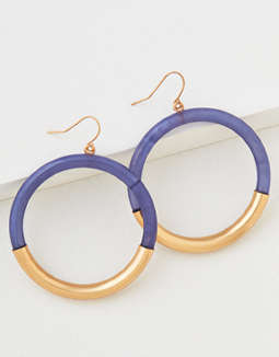 AEO Resin Circle Hoop Earring