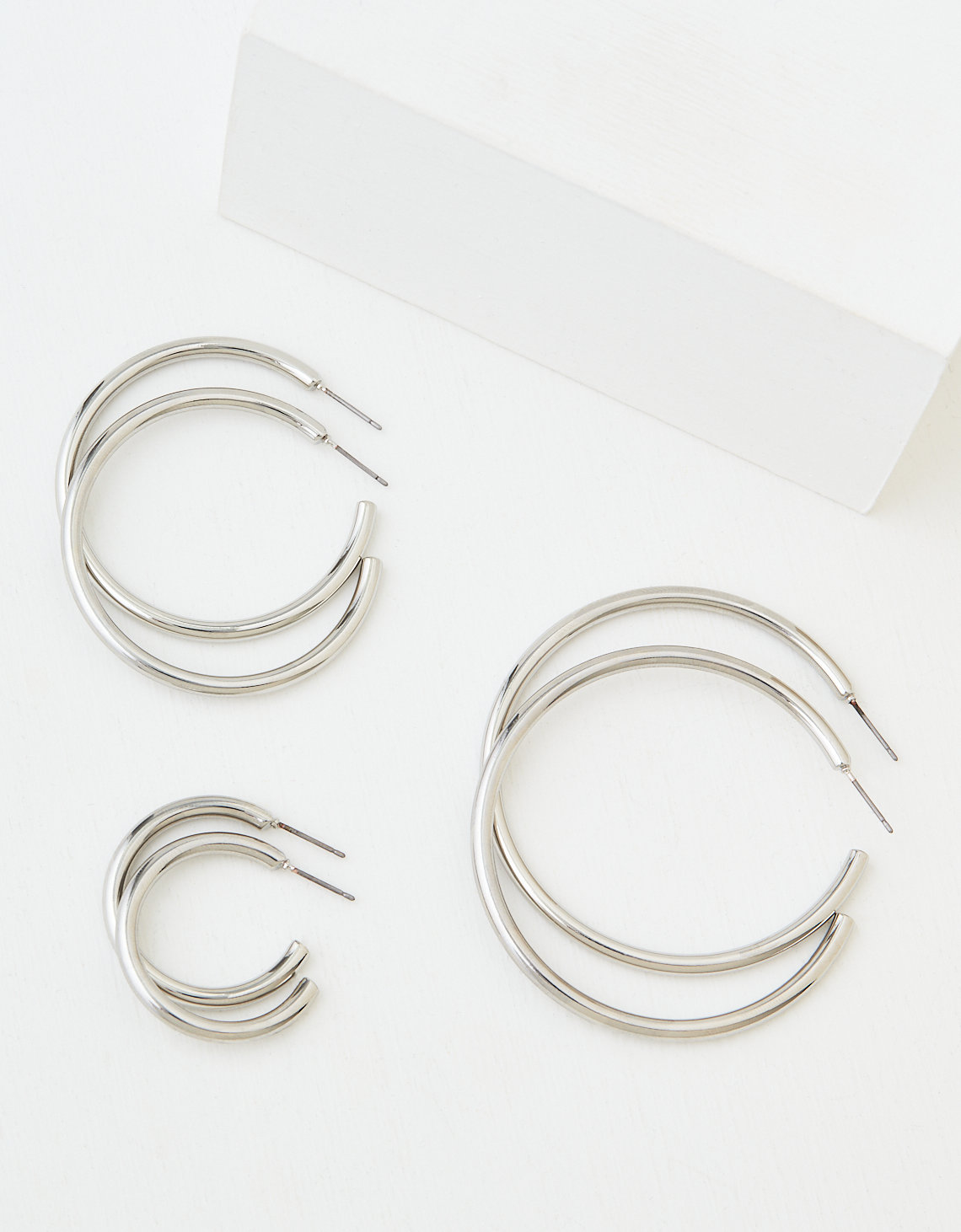 AEO Silver Hoop Earrings 3-Pack