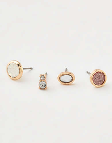 AEO Glitter Stud Earrings 6-Pack