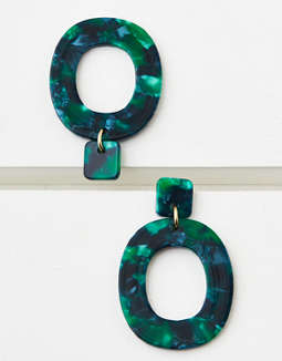 AEO Resin Hoop Drop Earring