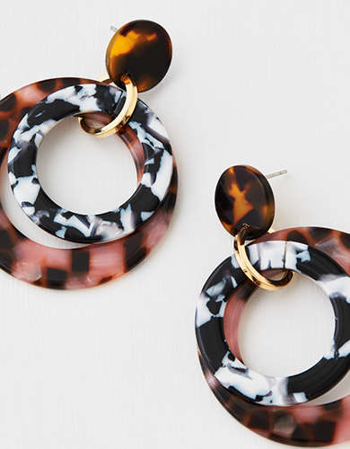 AEO Multi Color Circle Hoop Earring