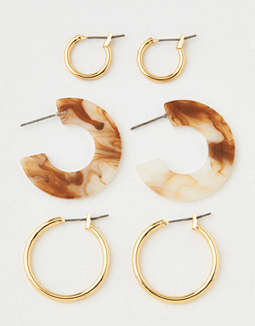 AEO Resin + Hoop Earrings 2-Pack