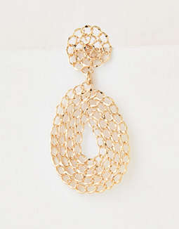 AEO Gold Chain Statement Earring