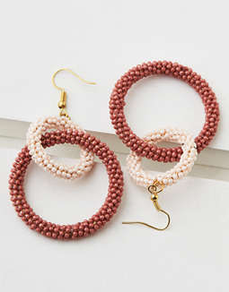 AEO Beaded Hoop Earring