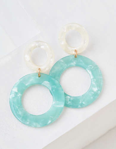 AEO Stacked Resin Hoop Earring