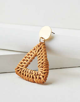 AEO Raffia Triangle Earring