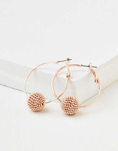 AEO Beaded Ball Hoop Earring