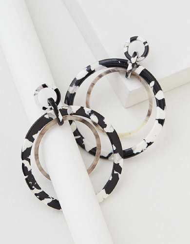 AEO Milky Resin Hoop Earring