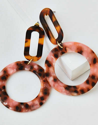 AEO Speckle Resin Hoop Earring