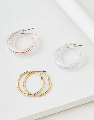 AEO Hoop Earrings 3-Pack