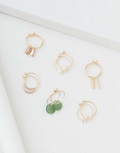 AEO Mini Hoop Earrings 6-Pack