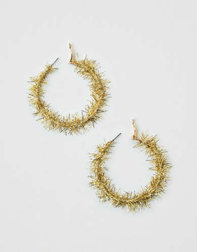 AEO Gold Tinsel Hoop Earring