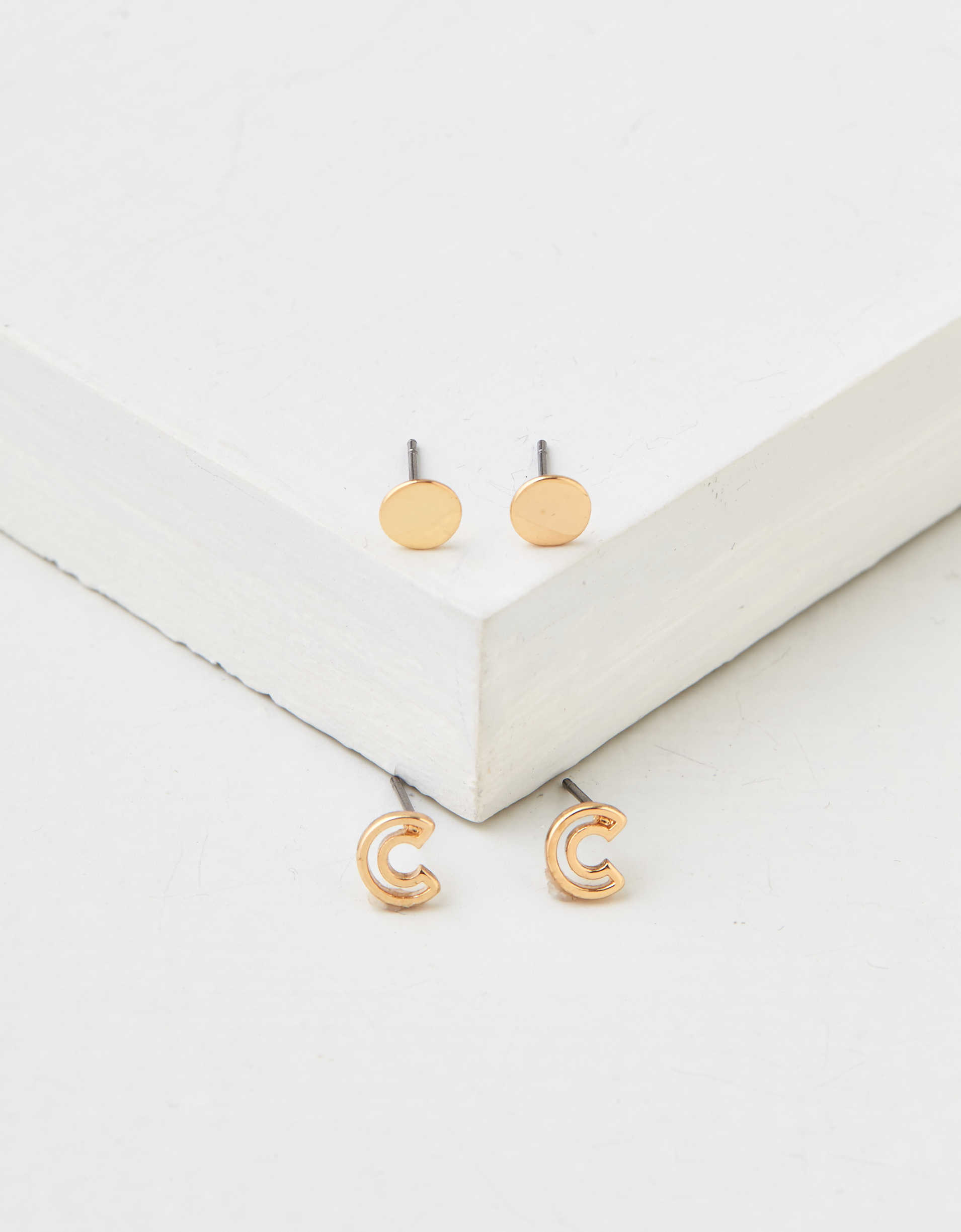 AEO C + Stud Earrings 2-Pack