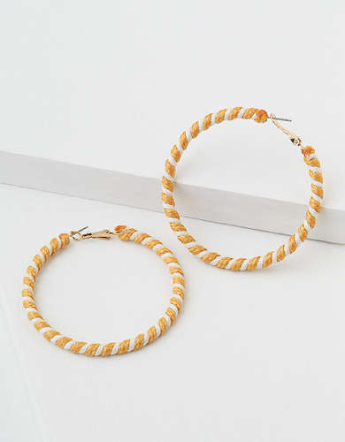 AEO Braided Hoop Earring