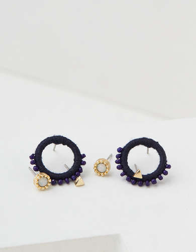 AEO Mini Hoop + Stud Earrings 3-Pack