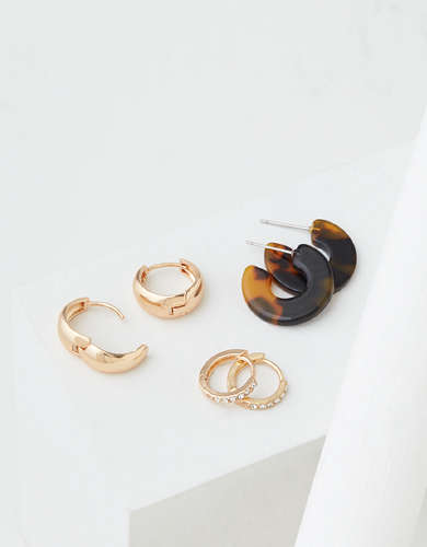 AEO Mini Hoop Earrings 3-Pack