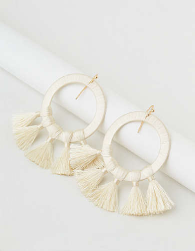 AEO Statement Tassel Hoop Earring