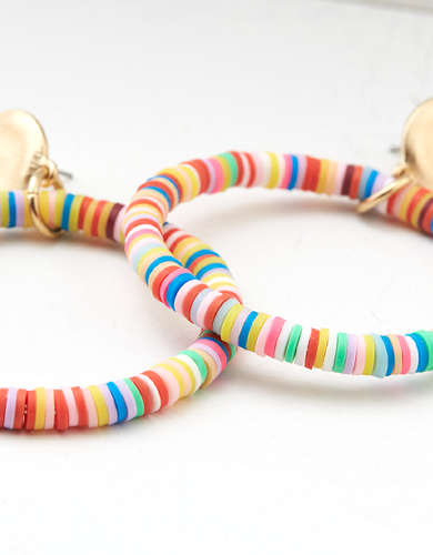 AEO Multi Color Hoop Earring