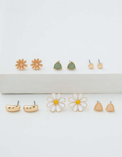 AEO Daisy Stud Earrings 6-Pack