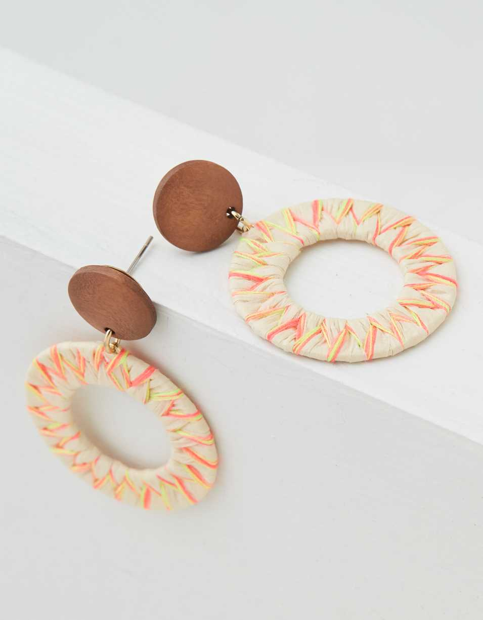 AEO Wood + Neon Statement Earring