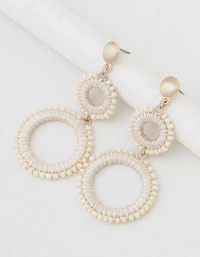 AEO Beaded Tiered Statement Earring