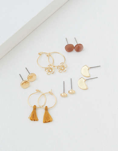 AEO Gold Earrings 6-Pack